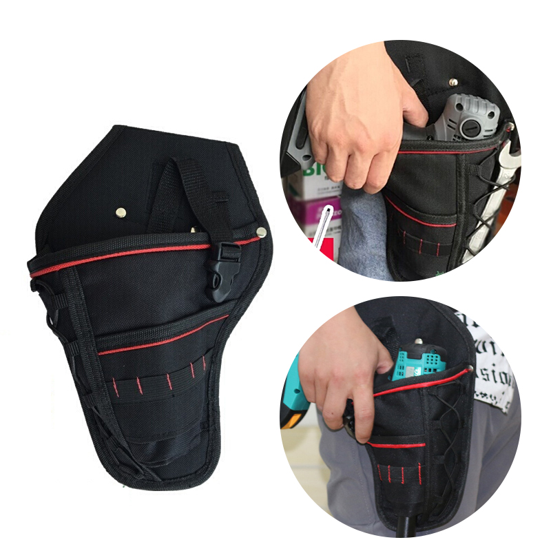 Multi-functional Waterproof Drill Holster Waist Tool Bag Electric Waist Belt Tool Pouch Bag For Wrench Hammer Screwdriver New