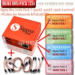 2020 Newest Original Sigma box + 9 Cable with Pack1+Pack2+Pack3 + Pack4 new update forhuawei