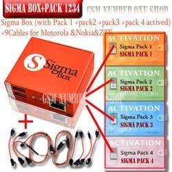 2020 lo más nuevo Original Sigma box + 9 Cable con Pack1 + Pack2 + Pack3 + Pack4 nueva actualización para Huawei