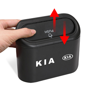 Image 4 - Lata de lixo do carro assento de carro porta traseira pendurado caixa de armazenamento lata de lixo para kia k2 k3 k5 k9 ceed sportage sorento cerato sid r rio alma