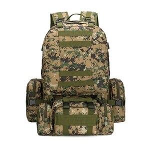 Image 4 - 55L Molle العسكرية على ظهره الجيش المجال بقاء كامو حقيبة سفر متعددة الوظائف مزدوجة الكتف حقيبة ظهر بسعة كبيرة