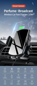 Image 2 - קול שידור אלחוטי רכב טלפון מטען 15W תשלום מהיר רכב מחזיק עבור iphone 11 פרו 11XS מקסימום עבור Huawei mate30pro P30 פרו