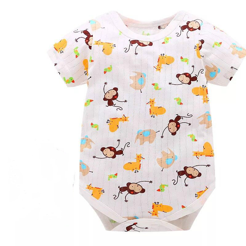 2018 New Fashion Baby Romper Unisex Cotton Short Sleeve Newborn Baby Clothes Jumpsuit Infant Clothing Set RRoupas Dee Bebee