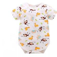 2018 New Fashion Baby Romper Unisex Cotton Short Sleeve Newb
