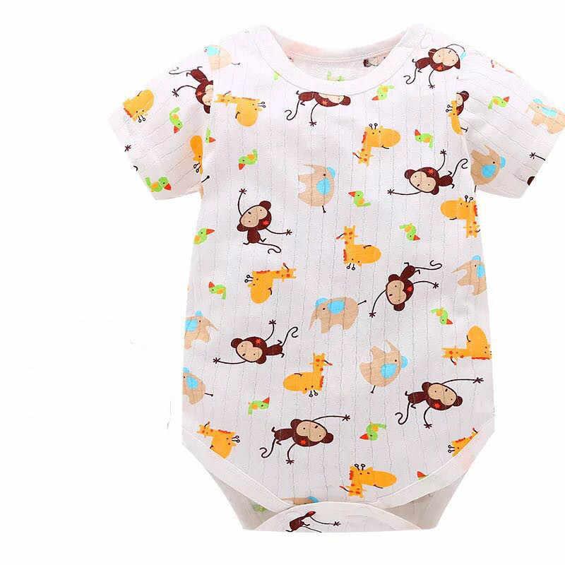 2018 nuevo mameluco de bebé de moda Unisex de algodón de manga corta ropa de bebé recién nacido mono conjunto de ropa infantil rrupas Dee Bebee