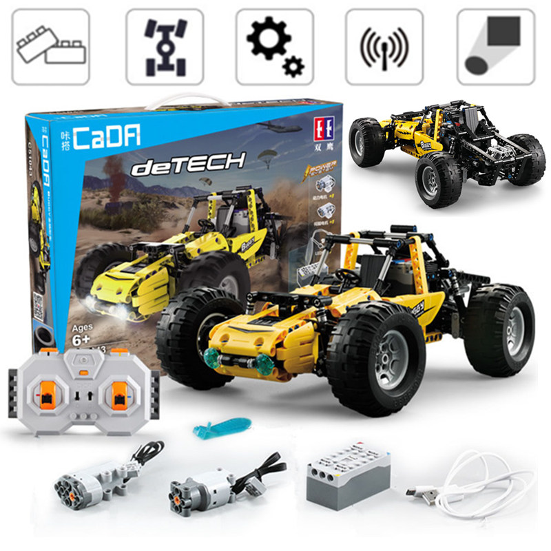 New RC Power Function Racing Car Buggy All terrain Off road Climbing Vehicle Fit Legoings Technic Building Block Bricks Toys Kid|Blocks| |  - title=