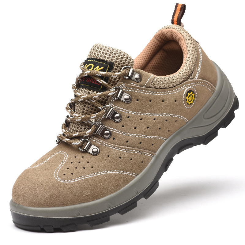 Supply Suede Casual Safety Shoes Protective Shoes Safety Shoes Smashing Anti Puncture Anti-static Wear-Resistant