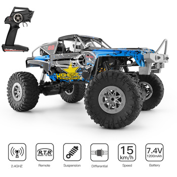 Wltoys 104310 RC Car 1/10 Climbing Car 4WD Dual Motor RC Buggy Off Road 2.4G Remote Control Car Gift Toy for Kids RTR 1