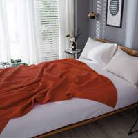 PHF 100% хлопковое покрывало с вафельным покрытием, скандинавские покрывала для дивана, клетчатое покрывало на кровать, декоративное одеяло дл...