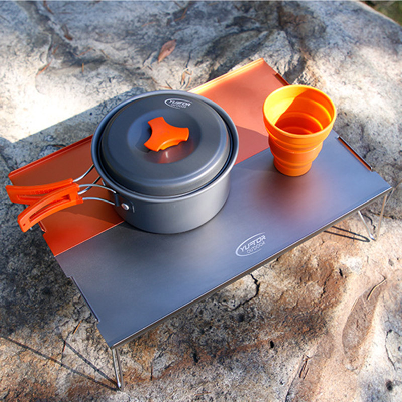 Outdoor Ultralight Portable Aluminum Folding Table Climbing Camping Table Mini Dining Table Tea