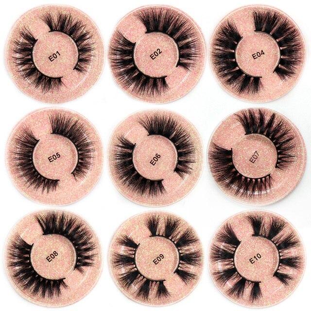 LEHUAMAO Mink Eyelashes 3D Mink Lashes Thick HandMade Full Strip Lashes Cruelty Free Mink Lashes 13 Style False Eyelashes Makeup 3