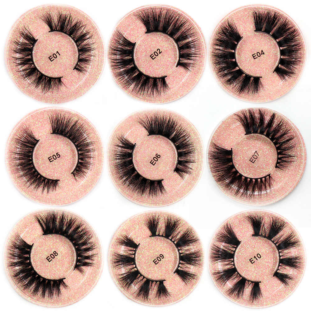 LEHUAMAO vizon kirpik 3D vizon kirpik kalın el yapımı tam şerit Lashes zulüm ücretsiz vizon kirpiklere 13 tarzı yanlış kirpik makyajı