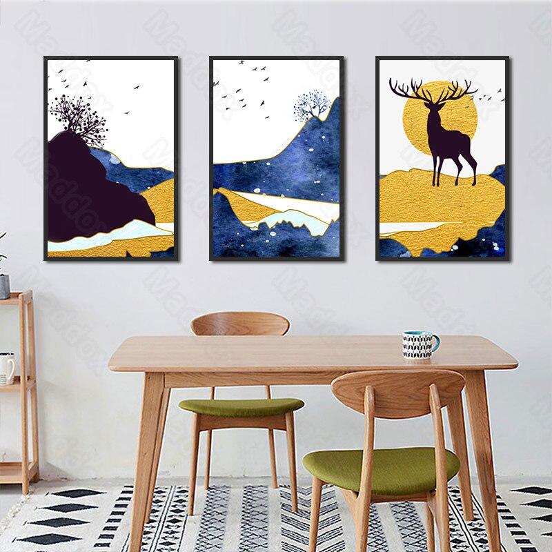 Настенные картины для гостиной, Современная Модная креативная декоративная картина, нишевая Красивая Спальня, Настенная картина для ресто...