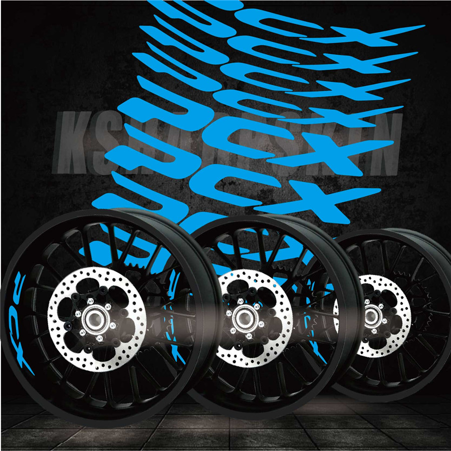 Best Selling Modified Motorcycle Personality Creative Wheel Accessories Reflective Interior Side Decals For HONDA PCX