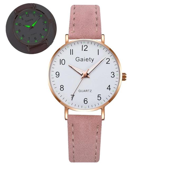 2021 NEW Women's Watches Simple Vintage Small Watch Leather Strap Casual Sport Clock Dress Wristwatches Women Relogio mujer 6