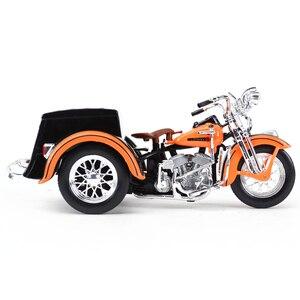 Image 5 - Maisto 1:18 1947 Servi Auto Moto sidecar Pressofuso In Lega Modello di Moto Giocattolo