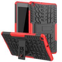 Heavy Duty 2 in 1 Hybrid Robuste Silizium Fall Für Samsung Galaxy Tab EINE 8,0 2019 SM-T290 SM-T295 T295 T297 tablet Fall + film + Stift