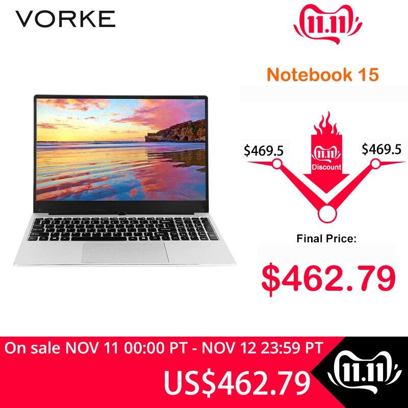 In Stock VORKE Notebook 15 Laptop Intel Core I5-8250U Full Metal Body 15.6'' IPS 1920*1080 Windows 10 8GB DDR4 256GB SSD Laptop