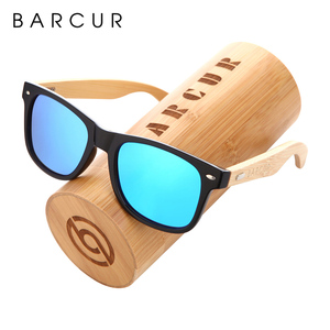 Image 1 - نظارة شمسية جديدة مستقطبة مصنوعة يدويًا من خشب البامبو من BARCUR نظارة شمسية للشاطئ للرجال والنساء تصلح كهدية