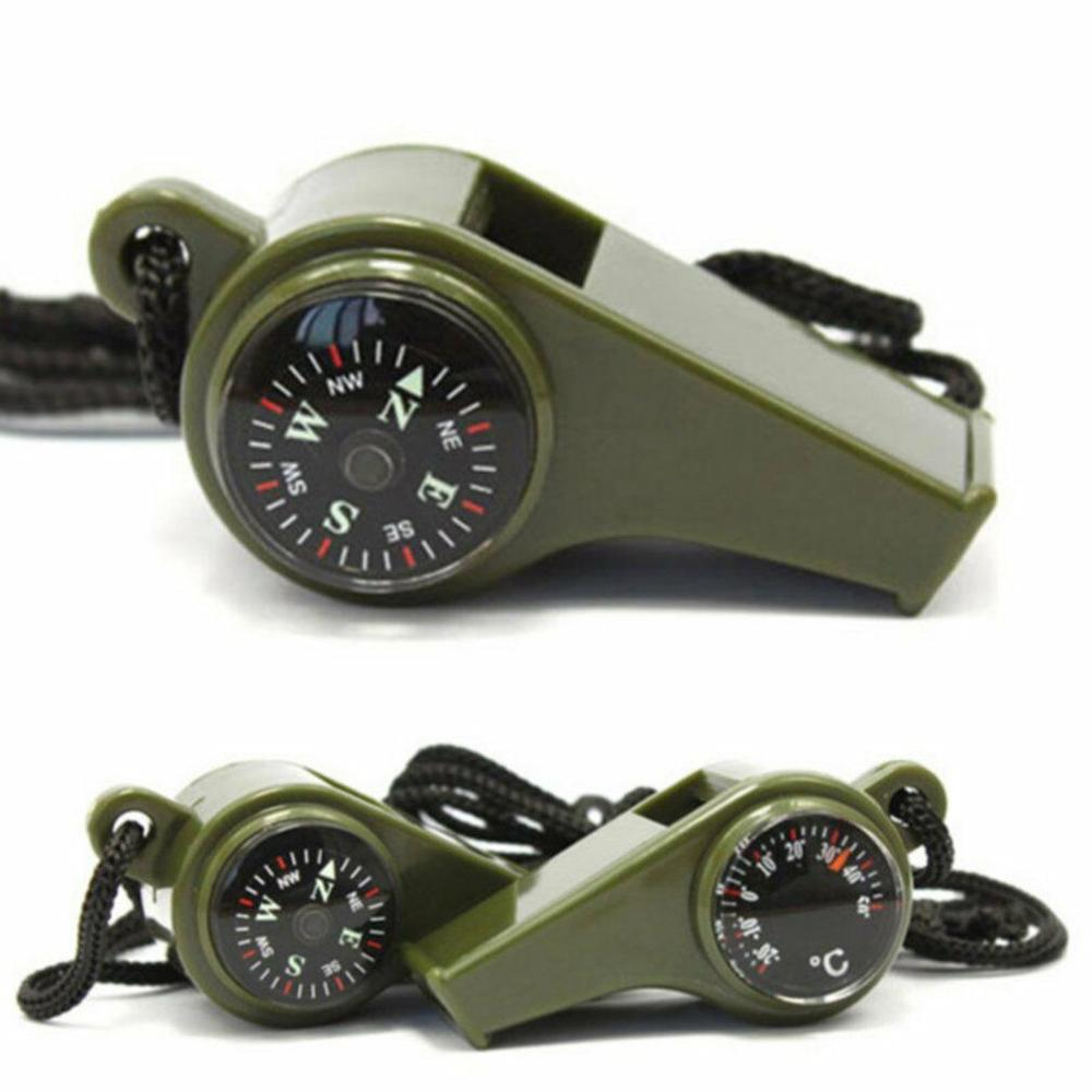 3 In 1 Multi-Function Whistle With Compass Thermometer - Emergency Survival GearOutdoor Camping Traveling Portable Tools