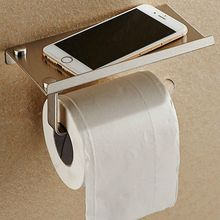 Wall Mounted Bathroom Toilet Paper Holder Rack Tissue Roll Stand Stainless Steel european stainless steel kitchen paper roll tissue holder double bar rack stand high quality