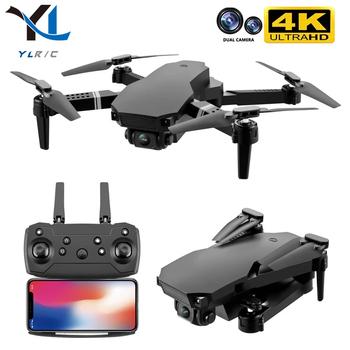 Nowy 2020 S70 drone 4K HD podwójny aparat składany wysokość utrzymanie drone WiFi FPV 1080p transmisja w czasie rzeczywistym quadcopter-zabawka zdalnie sterowany tanie i dobre opinie YLRC CN (pochodzenie) Z tworzywa sztucznego 100m 18*26*5 5cm Mode2 Silnik szczotki 7 2v 4 kanały Oryginalne pudełko Baterie