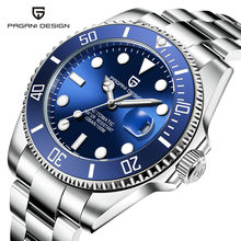 2021 PAGANI tasarım lüks erkek saatler otomatik siyah saat erkekler paslanmaz çelik su geçirmez iş spor mekanik kol saati