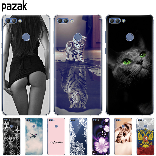 Silicone phone Case For huawei Y9 2018 cases Coque etui bumper shell soft TPU Phone Back cover full 360 Protective