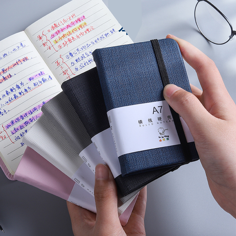 1Pcs A6 A7 Mini Notebook Portable Pocket Notepad Memo Diary Planner Agenda Organizer Sketchbook Office School Stationery 96sheet