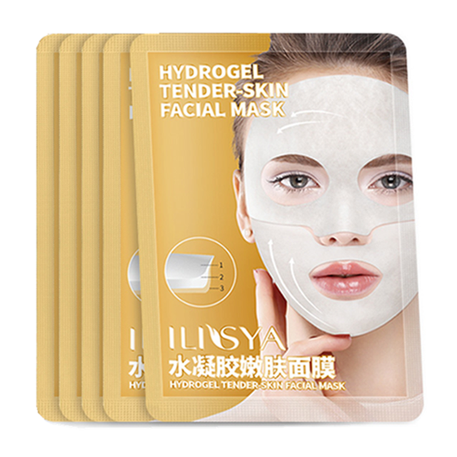 ILISYA Hydrogel Facial Mask High Quality Anti Wrinkle Anti Ageing Facial Mask Hydrating Tender Skin Mask Prevent Wrinkles 1 PC