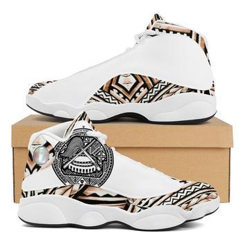 Diseño de lujo de la Polinesia Samoa tribu estilo niño zapatillas de deporte Zapatos de bola Logo de equipo deportivo de Baloncesto de los hombres zapatos deportivos 1
