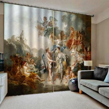 European 3D Curtains angel design Curtains For Living Room Bedroom Decoration curtains