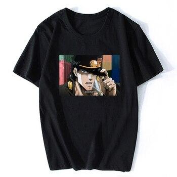 T-shirt Cool Jojo Bizarre Adventure Graphic Print Men's Japanese Anime Style T-shirt Plus Size Cotton Soft Top T-Shirt Men 2