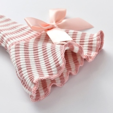 Kids Baby Girl Striped Printed Blouses Long Flare Sleeve