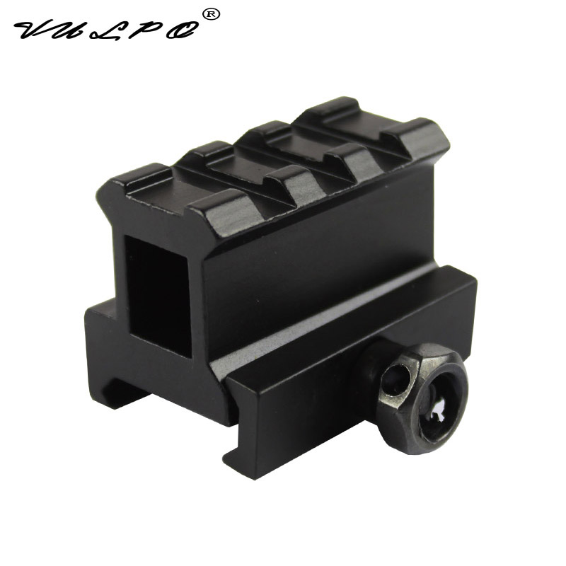VULPO Mini Red Dot Riser Mount Version Micro With Rise Mount For 20mm Picatinny Rail