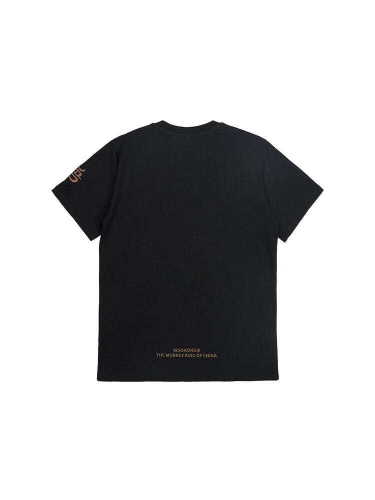 Золотая вышивка уличная одежда свободный крой скейтборд Мальчик скейт Футболка 100% хлопок мужские рок хип хоп Модные топы - 2