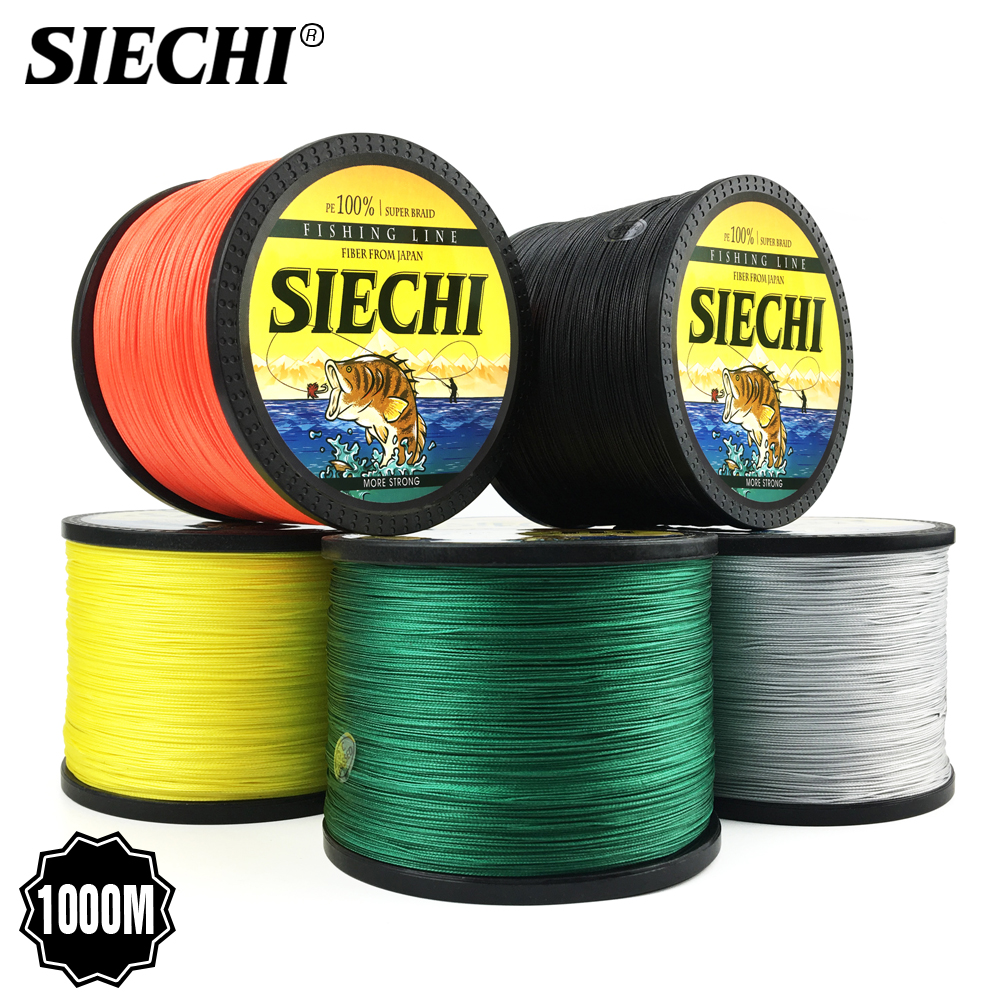 SIECHI Braid Fishing Line 300M 500M 1000M 4 Strands 8 StrandsMultifilament Fishing Wire Carp Fishing 20-88lb
