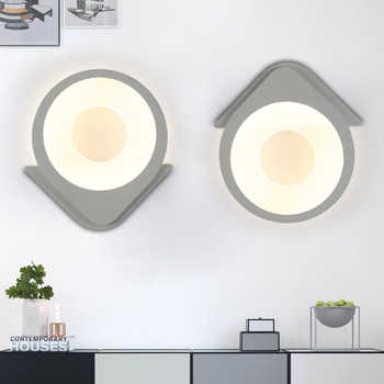 Modern Acrylic Leaf Wall light Children\'s Room Bedside Bedroom Wall Lamps Arts Creative Corridor Aisle Sconce Decor AC85-265V