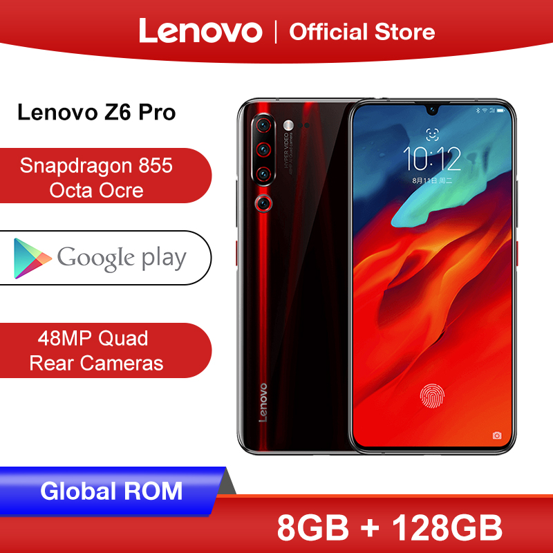 Global ROM Lenovo Z6 Pro 8GB 128GB Snapdragon 855 Octa Core Smartphone 6.39 FHD Rear 48MP Quad Camera 4000mah battery image