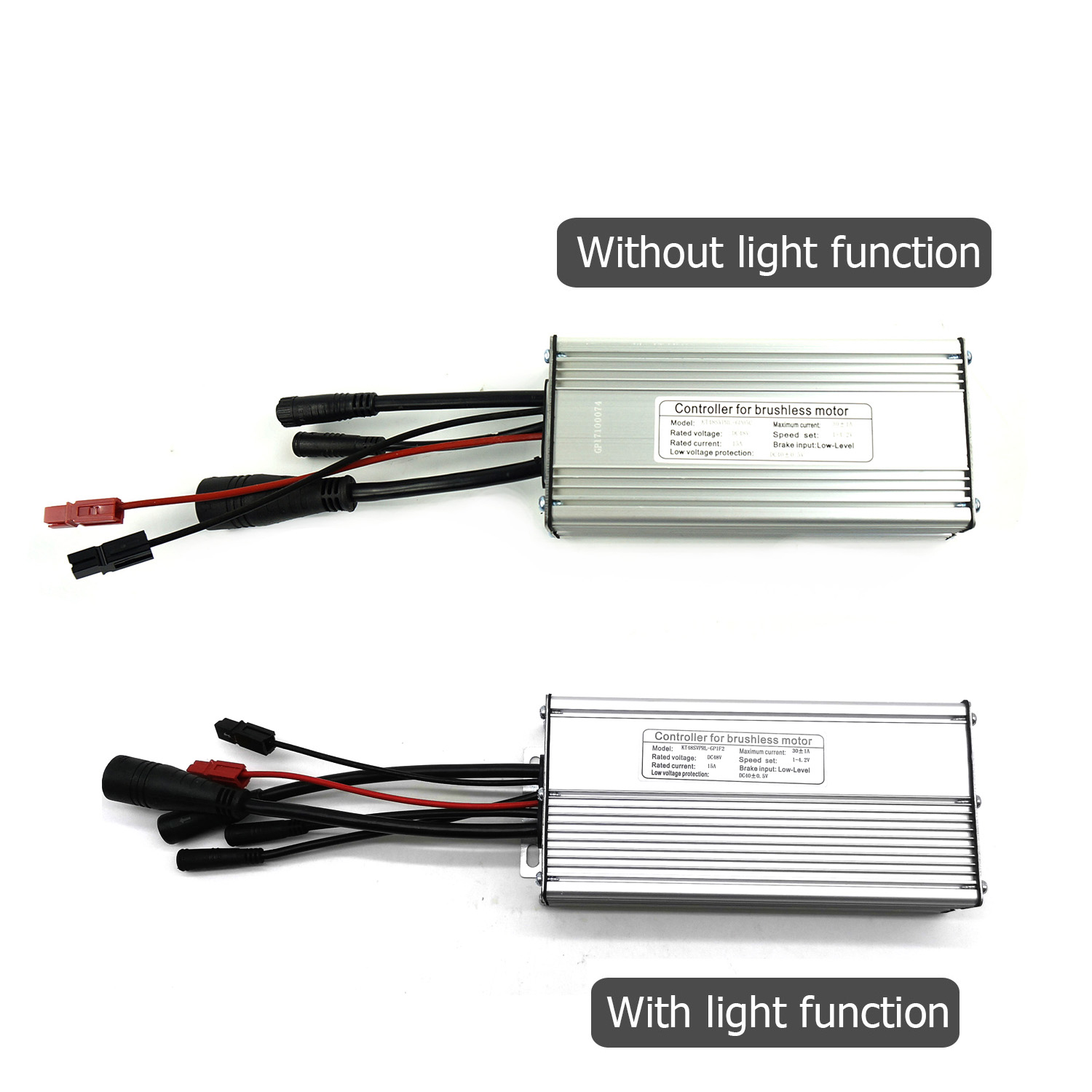 KT Controller 48V 30A Big 8 9 Pin Waterproof 12 Mosfets 750W 1000W Motor Electric Bicycle Kunteng Controller With Light Function