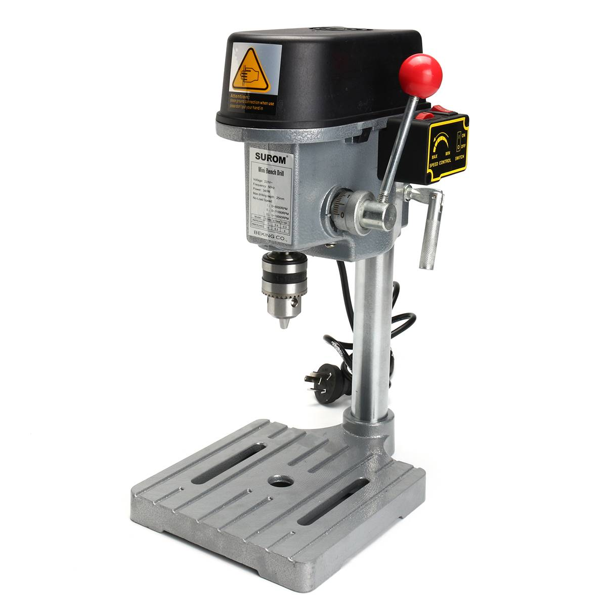 340W 220V 16000rpm Electric Drill Press Workbench Multifunction Mini Woodworking Machine Tools Home DIY Power Tools 1mm~10mm