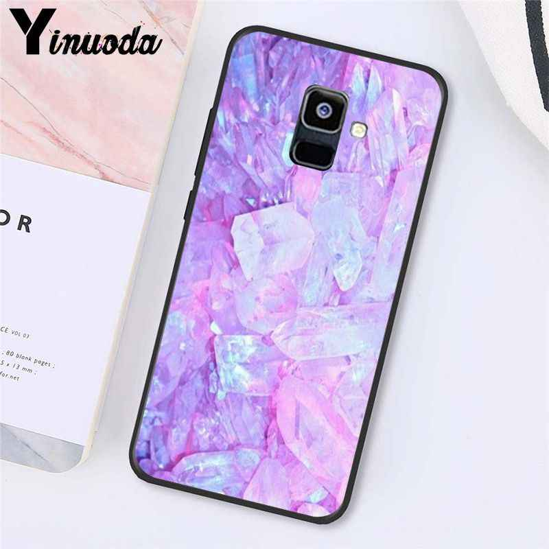 Yinuoda גל שיש צבע מקרה טלפון עבור Samsung Galaxy A7 2018 A50 A70 A8 A3 A6 A6Plus A8Plus A9 2018