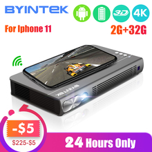 2020 New BYINTEK UFO P12 300inch Smart 3D Full HD 4K 5G WIFI Android Pico Portable Micro Mini LED DL