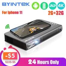 BYINTEK UFO P12 300inch 2019 Newest Smart 3D Full HD 4K 5G WIFI Android Pico Portable Micro Mini LED