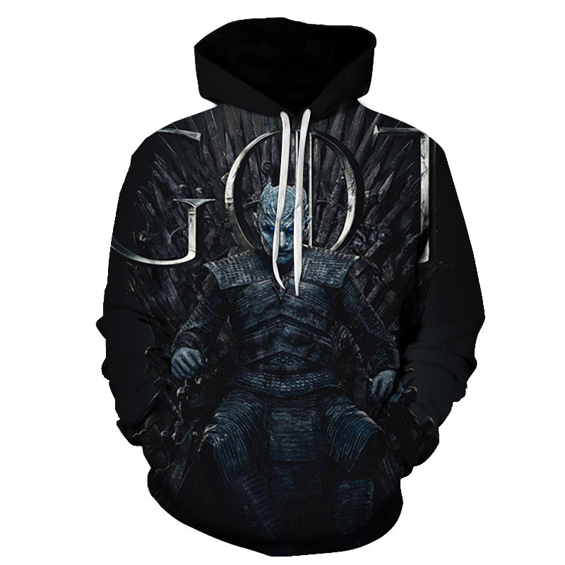 PINSHUN 2019 New Jumper Game Of Thrones Hoody 3D Printed Men/Women Hipster Hoodies Snow King Sweatshirts Plus Size S-6XL