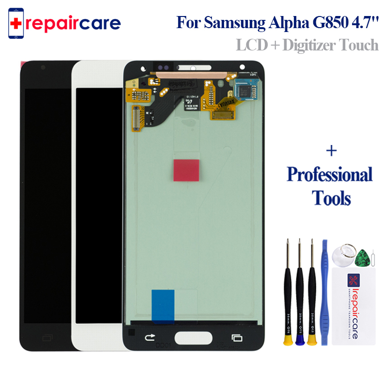 AMOLED 4.7 For Samsung Alpha G850 G850A G850F G850M G850K LCD Display Touch Screen Digitizer Assembly For Samsung Alpha G850 LC image