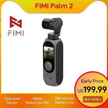 FIMI PALM 2-Cámara de Acción portátil 4k, micrófono de reducción de ruido para grabación de vídeo, estabilizador tik tok, regalo de Navidad