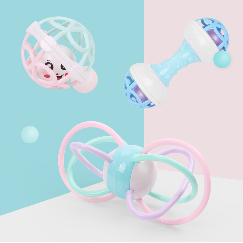 1 Pcs Baby Rattles Soft Glue DIY Educational Multilateral Rattle Ball With Rattles Baby Hand Catch Ball Toy Teether For Newborn