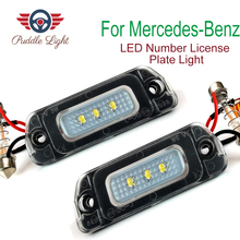 цена на 2Pcs Car Error Free LED Number License Plate Light For Mercedes-Benz AMG W164 X164 W251 ML GL R Class 320 350 450 500 550 AMG X