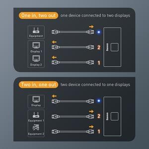 Image 5 - Разветвитель Baseus 4K HDMI двунаправленный 2,0 HDMI переключатель 1x2 и 2x1 адаптер 2 в 1 выход преобразователь HDMI переключатель для PS5 PS4 HD ТВ приставки